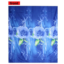 4Pcs 3D Red/Blue Rose Printed Bedding Set Quilt Cover Bed Sheet Pillowcases Queen Size Bedspread Bedclothes