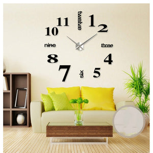 Fashion 3D Clock Big Size Wall Clock Mirror Sticker DIY Brief Living Room Decor Meetting Room Wall Clock