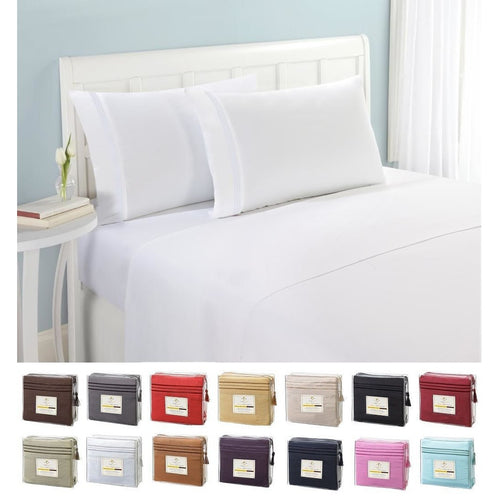 Microfiber Sheet Set Quality Bedding 4 Piece Classic Soft Bed Linens Designed To Add An Elegant Touch To Your Bedroom 4 Piece Be
