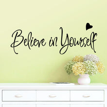 New English Proverbs:believe in yourself Sticker,The office of inspirational wall stickers