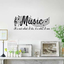 Music Melody Vine Removable Wall Art Stickers Vinyl Decal Art Mural Notes Decor