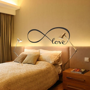 Art Love Infinity Mural Removable Wall Stickers Vinyl Quote Decal Bedroom Decor