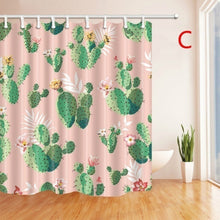 11 style Creative Cactus Flower Flamingo Printed Polyester Waterproof Mildewproof Shower Curtain size 180cm*180cm