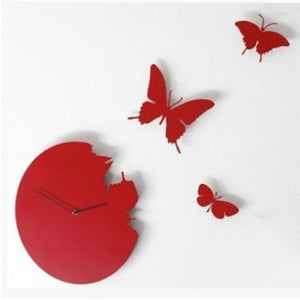 Butterfly Wall Clock Creative Personalized DIY Wall Clock Living Room Mute Quartz Clock Modern Wall Sticker Clock