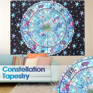 Astrology Indian Mandala Tapestries Wall Hanging Hippie Bedspread Beach Throw Towel Blanket Bohemian Tablecloth Room Dorm Decor