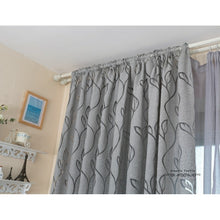 New Leaf Style Design Jacquard Blackout Curtain Blind for Window Living Room Home Decoration
