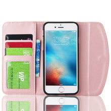 Women Bling Luxury Crystal Flip PU Leather Case Stylish Magnetic Wallet Protective Cover For Apple iPhone X 4 4S 5 5S 5C SE 6 6S