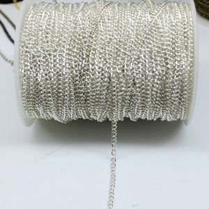 Open Link Iron Cable Findings Metal Antique Chain 0.7x3x2mm For Necklace 5m