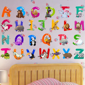 Removable Letter Alphabet Waterproof PVC DIY Wall Sticker Kids Room Door Decor