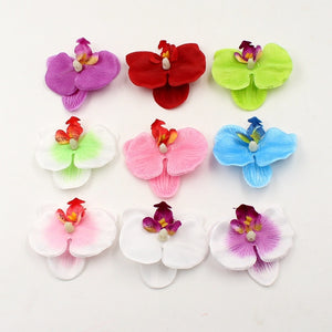 10pcs Flower Silk Head for Wedding Decoration   Home Decoration Orchs Mariage Flowers