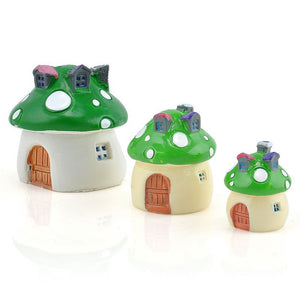 Fairy Home Garden Decoration Miniature Big Mushroom House Ornament Potted Plant Craft (2pcs/pack)