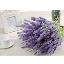 Artificial Silk Floral Lavender Bouquet For party Home Wedding Garden Decor