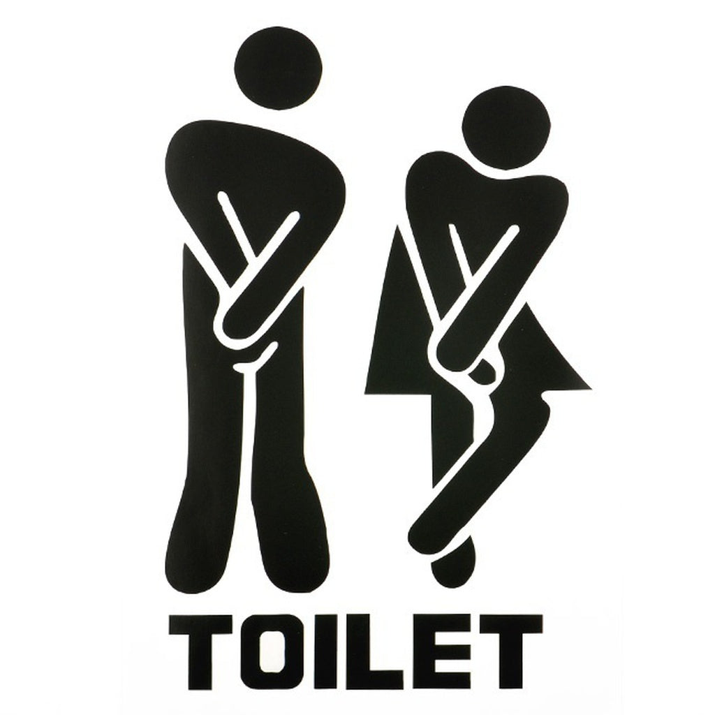 Removable Home Decor Waterproof Black Wall Decals for Cute Man Woman Washroom Toilet WC Sticker Family DIY Decor Art DecalBoys G