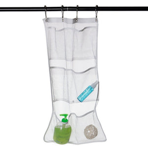 New 6 Pocket Bathroom Tub Shower Bath Hanging Mesh Organizer Caddy Storage Bag Hook FAGOD