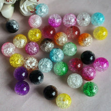 HOT SALE 100Pcs DIY Craft Tool Crystal Crack Colorful Glass Beads Cute Jewelry Making Accessories Gifts (Size: One Size, Color: