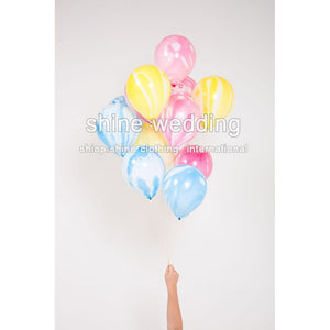 10pcs/lot Rainbow Printed Latex Balloon Balloons Party baby shower Ballon wedding/christmas balloon(wedding party shop)