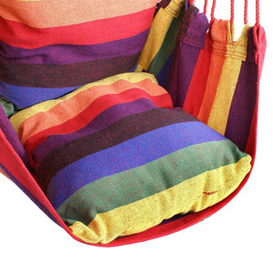 Segawe  Hanging Rope Chair - Hanging Hammock Chair - Porch Swing Seat - With Two Cushions - Stand is not included