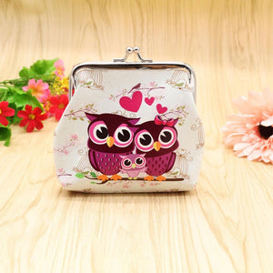 New Fashion Vintage Women Lady Cute Owl Pattern Small Wallet Hasp Purse Clutch Bag High Quality