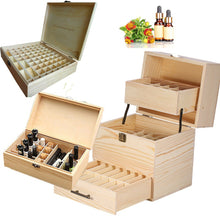 59grids/32grids/74grids Wooden Multi Tray Essential Oil Case  Carry Oils Container