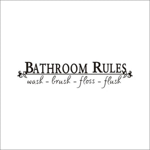 SZKEnglish Advocacy Wall Stickers Bathroom Rules Bathroom Creative Decoration Stickers