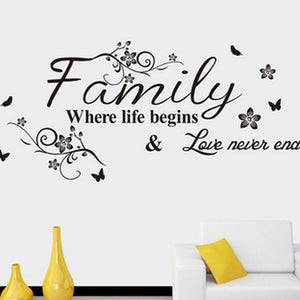 family flower vine Wall Stickers creative Art DIY PVC Decorations Wall Decals Home Decors Wall sticker