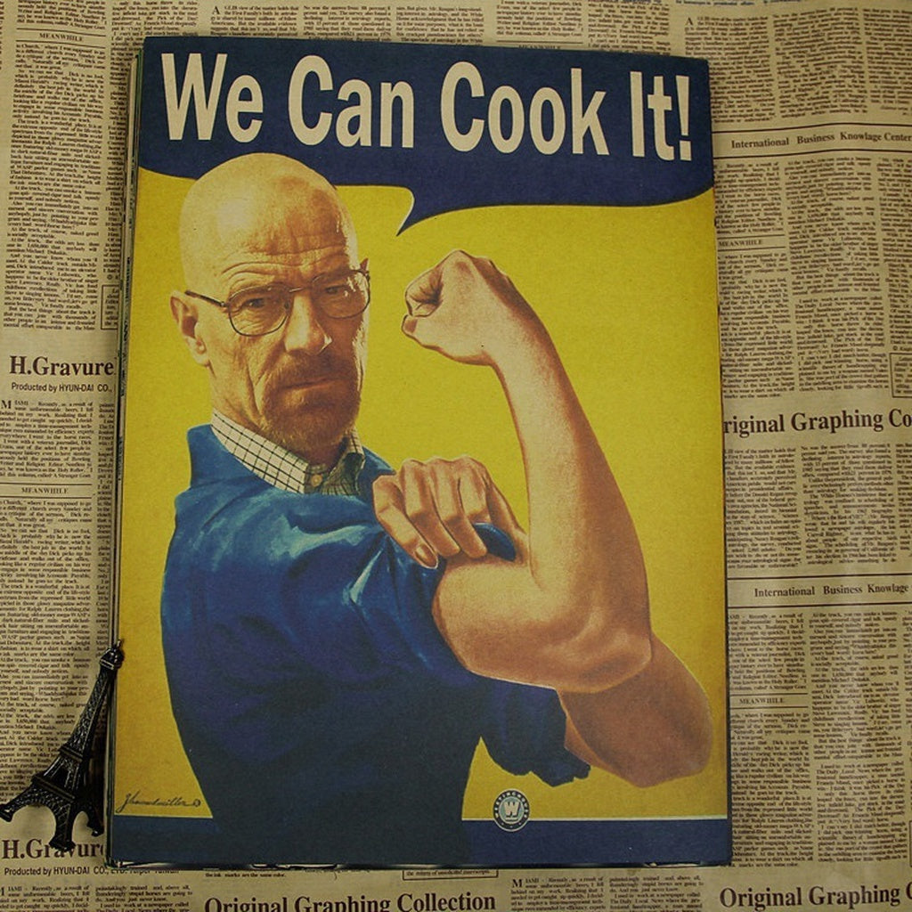 Feminism Kraft Paper Posters Breaking Bad We Can Cook It Retro Poster Living Room Wall Stickers