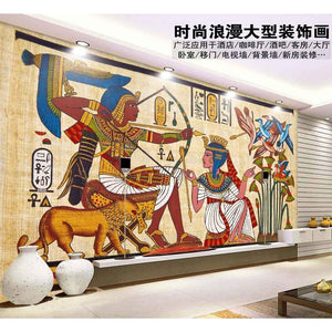 Ancient Egyptian murals Dream living room bedroom TV background wall paper 3D mural wallpaper