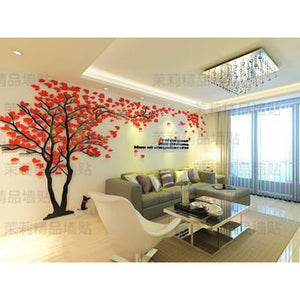 Creative Tree 3D Stereo Acrylic Wall Sticker Living Room Sofa TV Background Wall Interior Room Warm Decoration