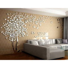 3D Living Room Wall Stickers Tree Lovers Acrylic Stereo TV Sofa Backdrop Bedroom Warm Crystal Wall Stickers Affixed 3D Wohnzimme