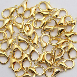 Loose Lobster Clasp Suitable for Necklace Bracelets 50Pcs Jewelry DIY 10mm-14mm