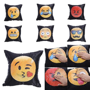 Funny Emotion Change Color Hugging Car Sofa Pillow Cover Home Decor