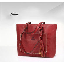 2018 Large Capacity Women Bags Shoulder Tote Bags bolsos New Women Messenger Bags With Tassel Famous Designers Leather Handbags