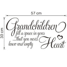 fashion room Decoration grandchildren heart Quote vinyl Home Decor Wall Decal Wall Lettering Art Words Wall Sticker