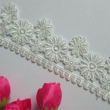 New 1 yd Vintage Embroidered Lace Edge Trim Ribbon Wedding Applique DIY Sewing Craft
