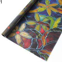 Best Gift 45x100cm DIY Decor Orchid Window Film PVC Stained Glass Home Privacy Stickers