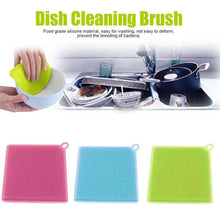 Soft Square Shape Silicone Dish Washing Scrubber Kitchen Cleaning Household Tool