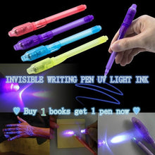 Buy 1 get 1 free  INVISIBLE WRITING PEN UV LIGHT INK  gift  now  Disguised Book Style Security Home Money Safe Cash Box Lock S
