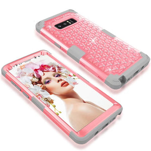 For Samsung Galaxy Note 8 Hybrid Heavy Duty Shockproof Rubber Bling Diamond Case Cover For Samsung Galaxy S8/S8 Plus