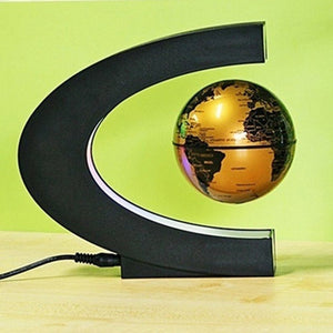 LE Self-Rotating Geography World Globe World Map Ornaments Home Office Decor ES