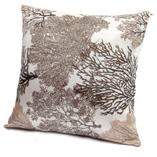 Cotton Linen Soft Decorative Pillows Case Cushion Cover Vintage Trees Black Brown Blue Green