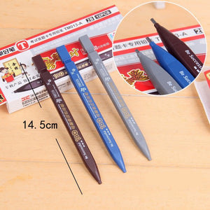 Office School Supplies 2B Black Lead Holder Exam Mechanical Pencil With 6PCs Lead Refills Set Office Supplies