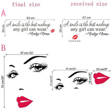 fashion sexy girl eyes red lip decorations living room wall stickers bedroom decals vinyl home decor mural art posters