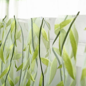 1M*2M Room Curtain Willow Pattern Voile Window Curtain Sheer Panel Drapes Scarfs Curtain Curtains