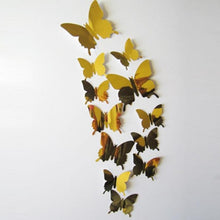 Wall Stickers Decal Butterflies 3D Mirror Wall Art Home Decors