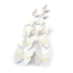 12pcs 3d butterfly wall decor Fridge Magnet Room Decor Decal Applique Wall Decals Stickers Living Home Decor pegatinas de pared