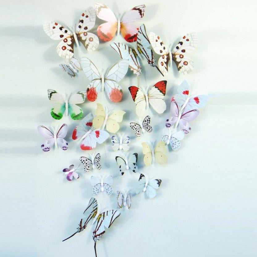 2016 3d butterfly wall decor stickers sticker decoration Posters Bedroom wall Art Home decor diy adesivo de parede