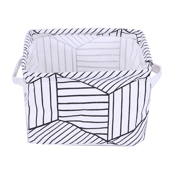 Cartoon Linen Toy Storage Box Holder Laundry Basket Organizer Stationery Office Organizer for Cosmetics Desk Storage Box