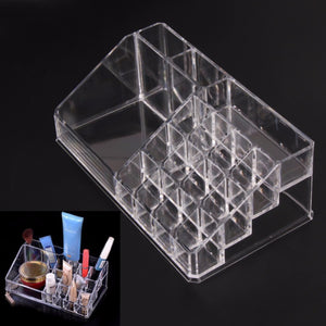 Acrylic Transparent Cosmetic Organizer Box Makeup Storage Desk Bathroom Makeup Brush Lipstick Holder Box Case