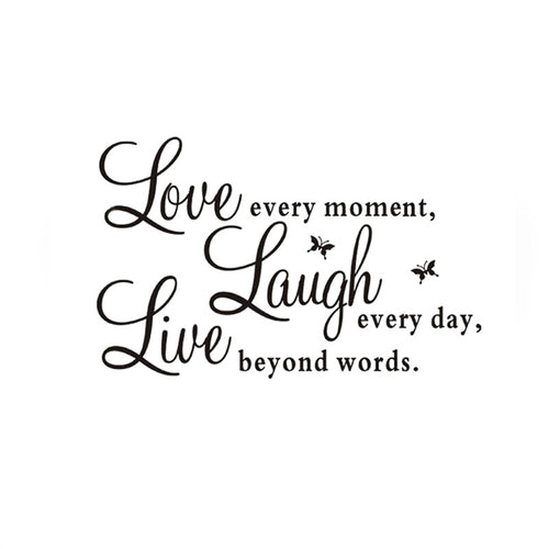 Love Every Moment Removable Art Murals Wall Stickers Decals for Living Room Bedroom Bathroom Decoration