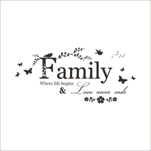 DIY  Family Letter Quote Removable Vinyl Decal Art Mural Home Living Room Decor Wall Stickers